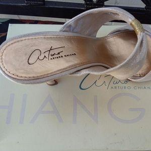 Arturo Chiang metallic mule size 10